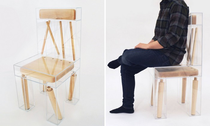 Joyce Lin is a designer in her final year obtaining a dual degree at RISD and Brown. We can say that her first art furniture piece is this deconstructed chair.