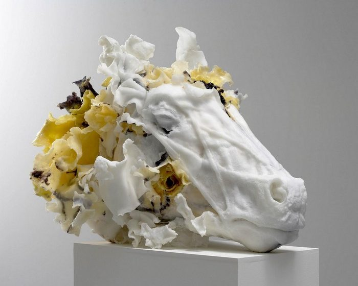 Rebecca Stevenson's figurative sculptures are both creative and beautiful. Her contemporary art is created by using primarily polyresin and wax.