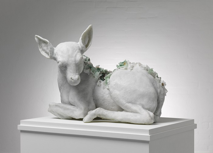 Rebecca Stevenson's figurative sculptures are both creative and beautiful. Her contemporary art is created by using primarily polyresin and wax. Contemporary art Contemporary art by Rebecca Stevenson Contemporary art by Rebecca Stevenson artists I Lobo you5