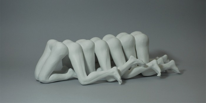 Alessandro Boezio is inspired in human parts like fingers and legs to create contemporary sculptures that look bizarre.