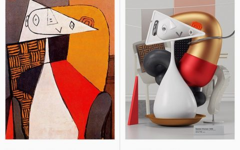In this self-initiated project by designer Omar Aqil, Pablo Picasso paintings are turned into 3D art masterpieces.