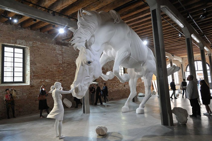 Venice Biennale 2017 is the 57th edition where Argentinian artist Claudia Fontes has unveiled the massive installation called The Horse Problem.