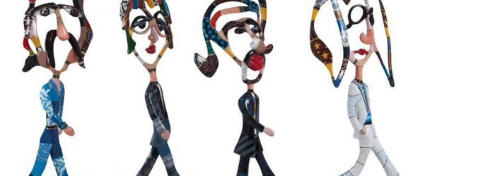 Dorit Levinstein's work invites you to step into her universe of forms, figures, and colors. Among a great diversity of works, The Beatles caught our attention.