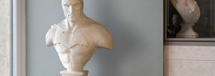 Leo Caillard represents the new generation of emerging artist with his singular vision. He perpetuates the existence of the most know superheroes at the Louvre.