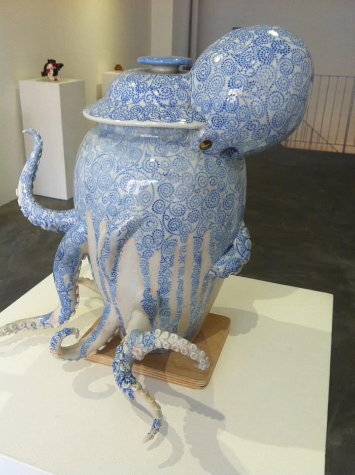 ceramic art Ceramic art by Keiko Masumoto Ceramic art by Keiko Masumoto I lobo you7