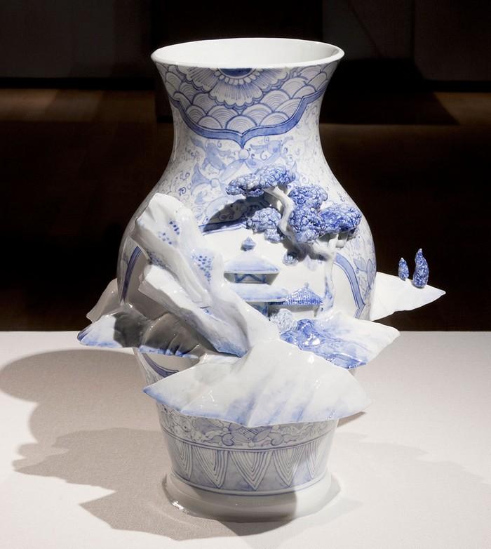 ceramic art Ceramic art by Keiko Masumoto Ceramic art by Keiko Masumoto I lobo you8
