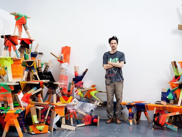 Anton Alvarez is the mind behind art furniture that is wrapped up in a thread to create a colorful and unusual setting.