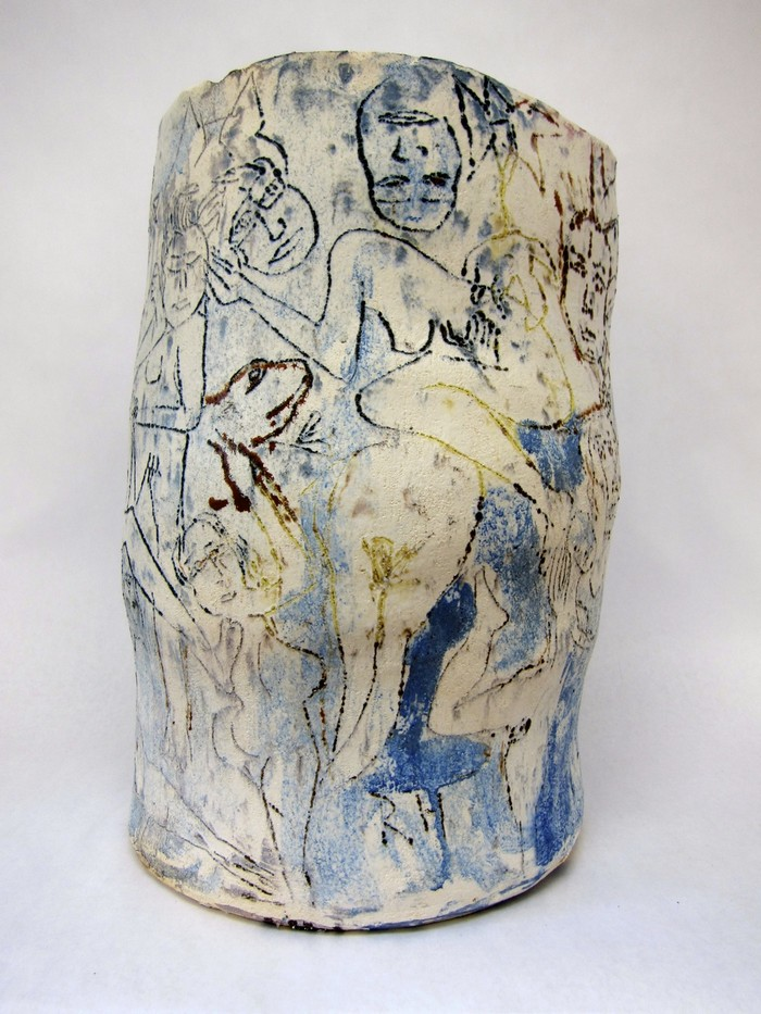 Ceramic Art Ceramic Art by Roger Herman Ceramic Art by Roger Herman fine art I Lobo you