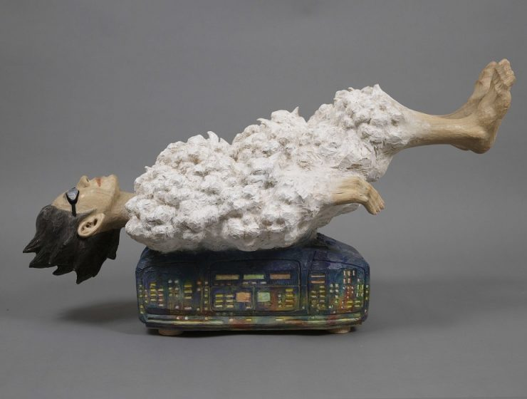 Kunihiko Noharais a Japanese artist that creates contemporary art sculptures whose subjects hover between the earth and sky, resembling like art on clouds.