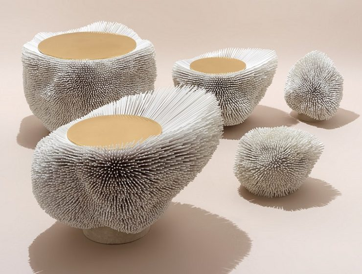 Pia Maria Raeder created a whole new concept in design presenting spiky furniture and decoration design.