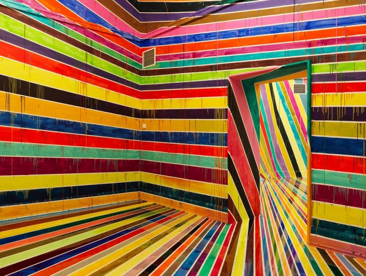 One feature in common in every Markus Linnenbrink art installations is color. He stands out for his colorful art,that are more likely to cheer up peoples'day