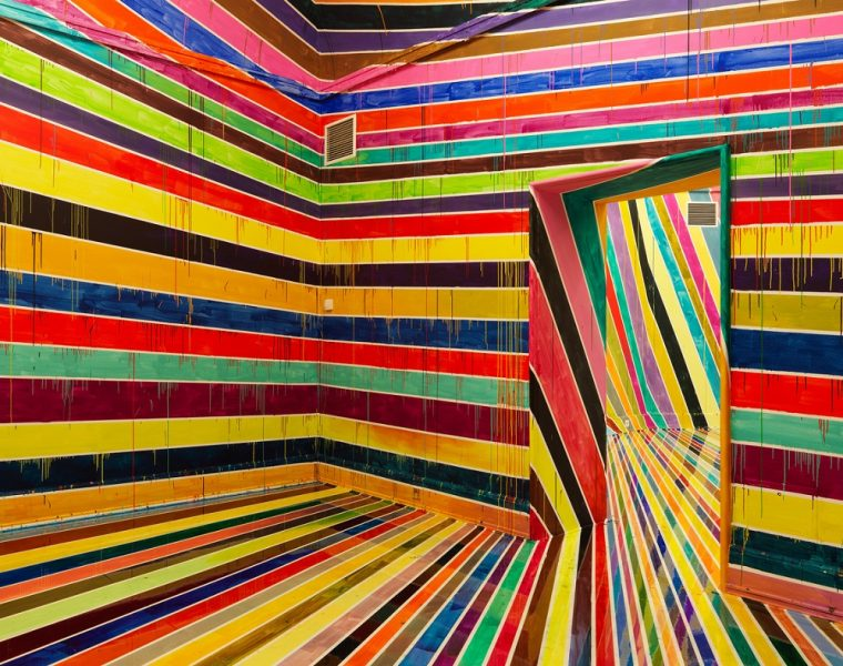 One feature in common in every Markus Linnenbrink art installations is color. He stands out for his colorful art,  that are more likely to cheer up peoples' day