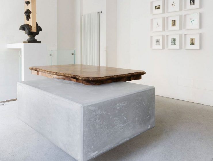 Studio Nucleopresented a solo show that tests the physical and perceptual limits of materials, embedded with repurposed items and antique pieces of furniture.
