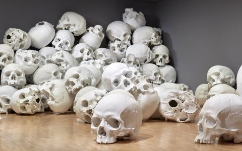 sculptures 100 Skull Giant Sculptures: Ron Mueck's Largest Art Installation cover 3 480x300