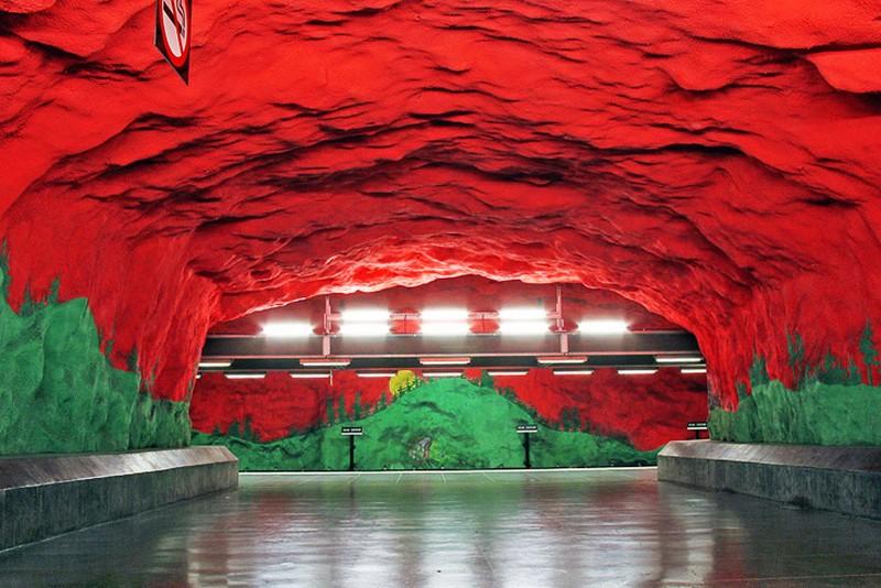 Stockholm Metro: The World's Longest Art Gallery at Stockholm art gallery Stockholm Metro: The World's Longest Art Gallery stockholm metro i lobo you 9
