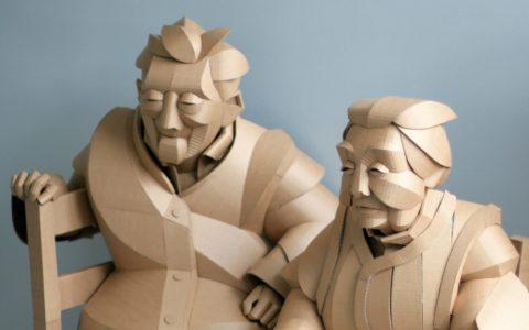 sculptures Cardboard Sculptures evoke Warren King's Ancestral Culture Cardboard Sculptures evoke Warren King   s Ancestral Culture ff 480x300
