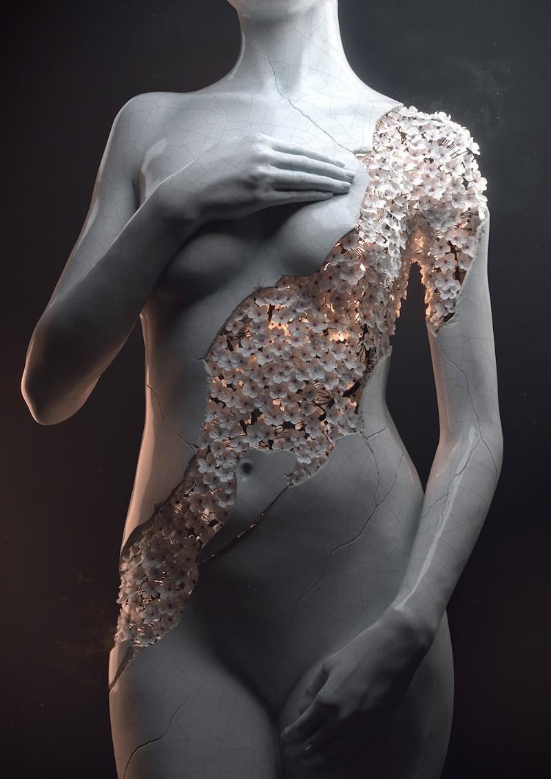 sculpture Meet the artist behind the flower-women sculptures flower 1