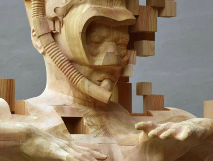 sculptures Wood Pixelated Sculptures By Hsu Tung Han feafea 2 740x560