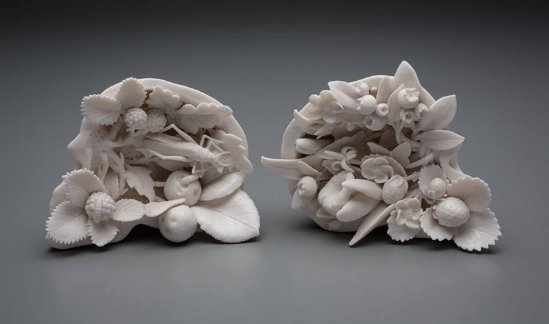 sculptures Human and Natural Elements in Sculptures by Kate MacDowell kate mcdowell i lobo you7
