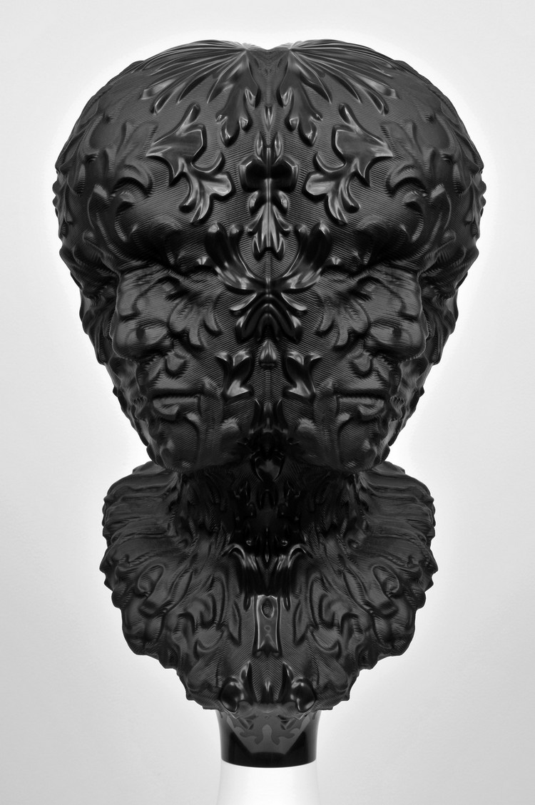 sculptures Destroyed bust sculptures by Barry X Ball barry ball i lobo you 10