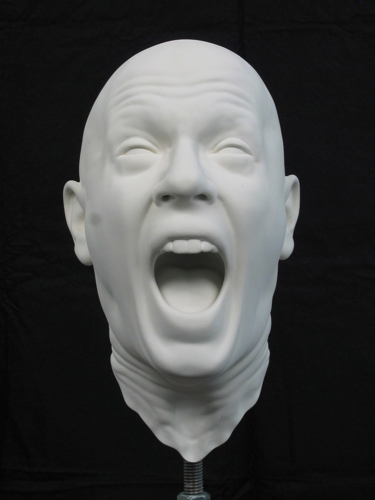 sculptures Destroyed bust sculptures by Barry X Ball barry ball i lobo you 7