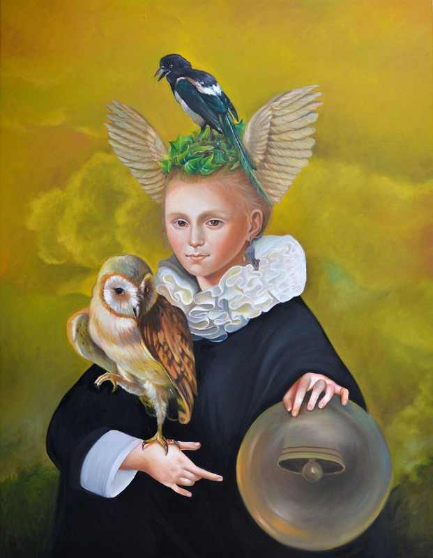 Oil Paintings The New Baroque Oil Paintings By Naomi Devil 16 papagena small 5b0fe79cd12ed  880