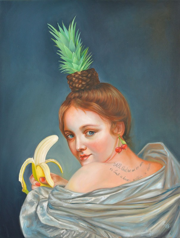 Oil Paintings The New Baroque Oil Paintings By Naomi Devil CheekyChiquita small 5b0fe76200c94  880
