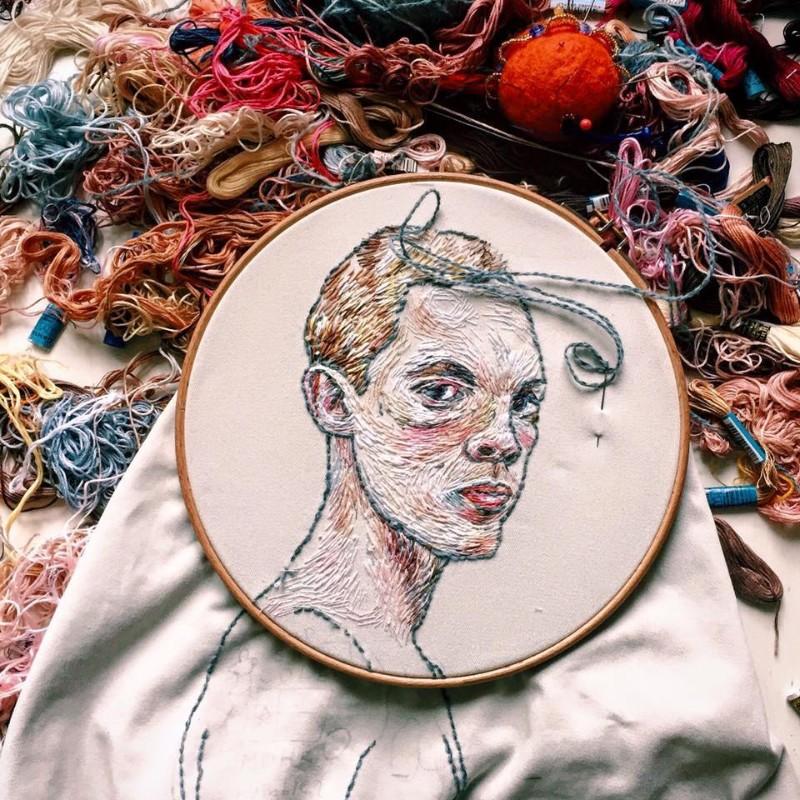 Embroidery Art Portraits By Lisa Smirnova