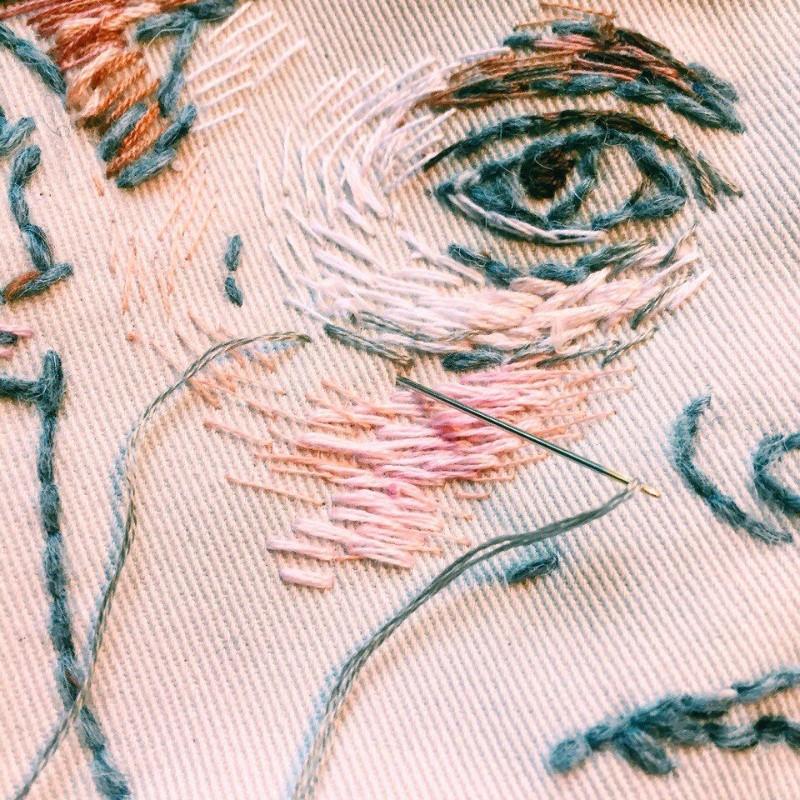 Art Portraits Embroidery Art Portraits By Lisa Smirnova Embroidery Art Portraits By Lisa Smirnova 4