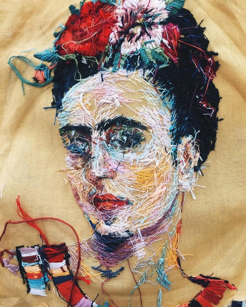 Art Portraits Embroidery Art Portraits By Lisa Smirnova Embroidery Art Portraits By Lisa Smirnova 7