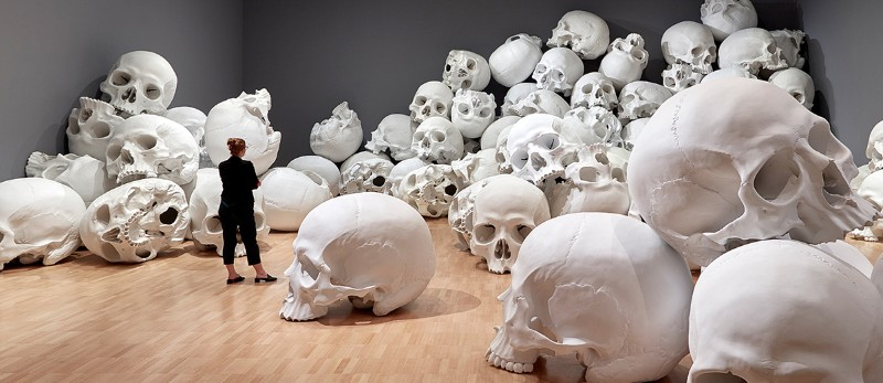 skull sculpture Skull Sculptures In A Room in Melbourne Sculptures of Skulls In A Room in Melbourne 3
