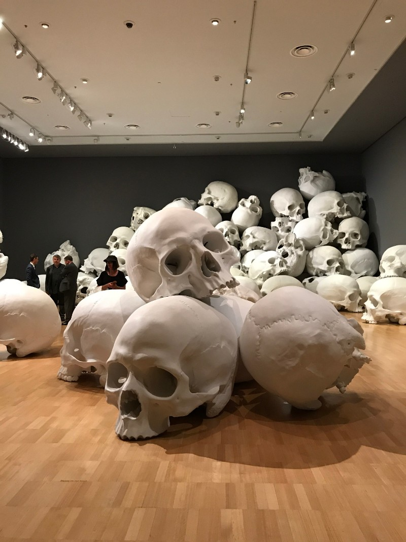 skull sculpture Skull Sculptures In A Room in Melbourne Sculptures of Skulls In A Room in Melbourne 6