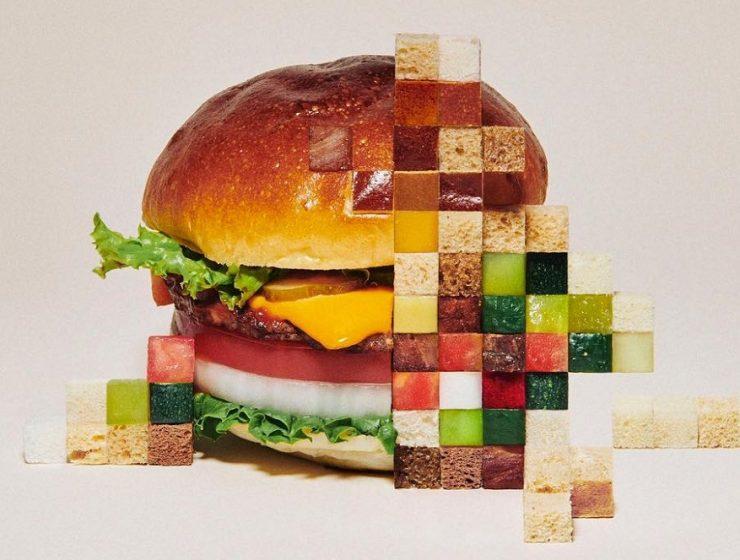 food series Yuni Yoshida pixelated food series Yuni Yoshida pixelated food series fine art I lobo you4 740x560