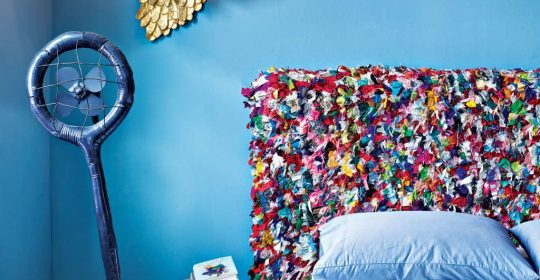 ArtistMisha Kahn states that he needs to beoverwhelmed by how colorful everything is in a design project.