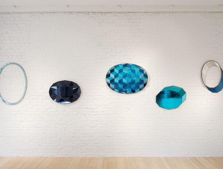 Using craftsmanship as a means of thinking, now he designs distinguish pieces of mirror furniture with multiple colors.