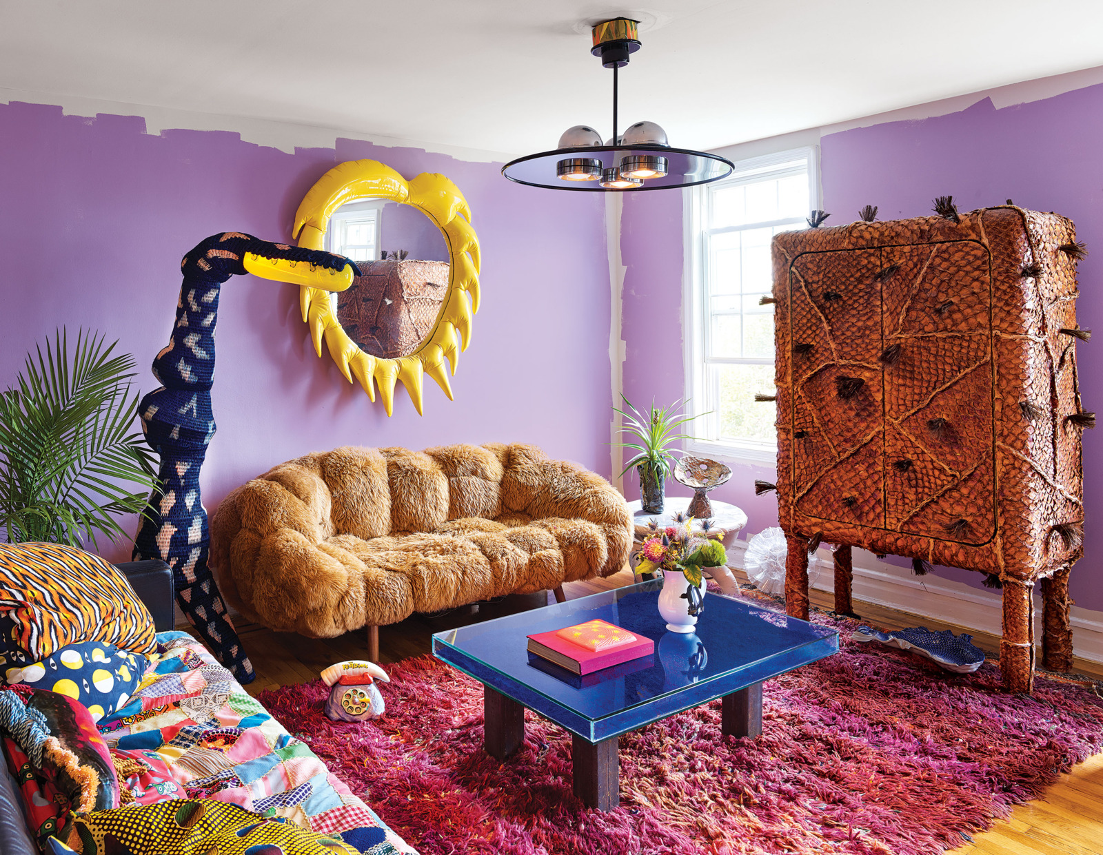 ArtistMisha Kahn states that he needs to beoverwhelmed by how colorful everything is in a design project. design project A colorful design project by Misha Kahn A colorful design project by Misha Kahn I Lobo you 2