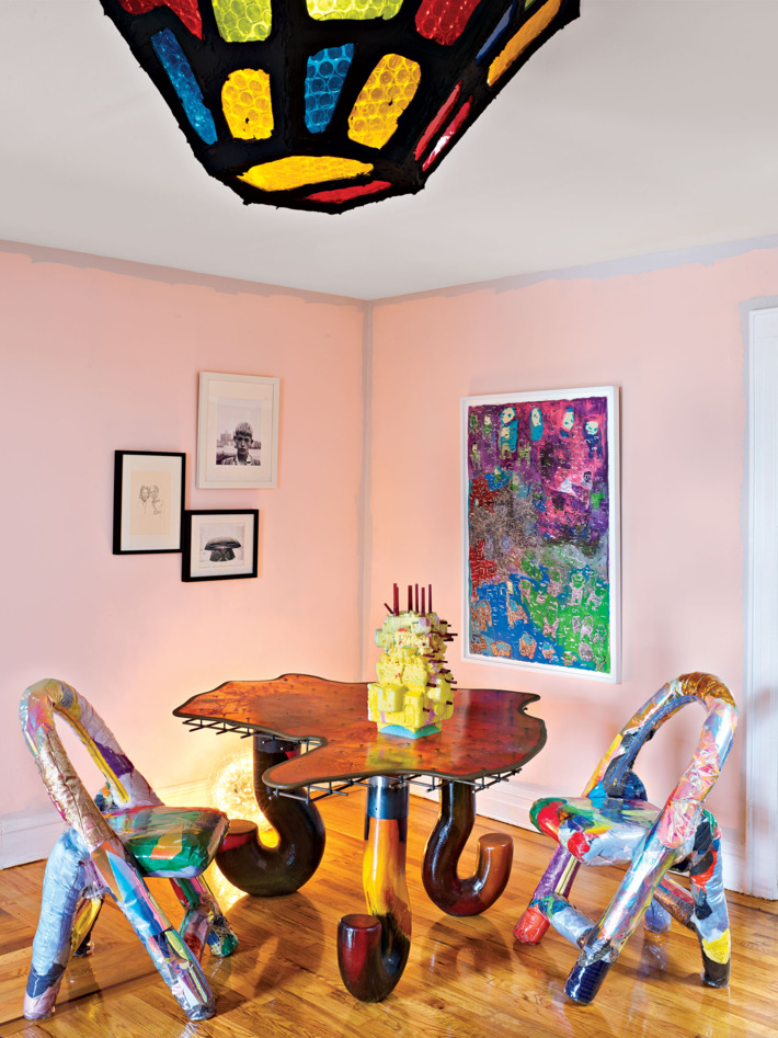 ArtistMisha Kahn states that he needs to beoverwhelmed by how colorful everything is in a design project. design project A colorful design project by Misha Kahn A colorful design project by Misha Kahn I Lobo you 3