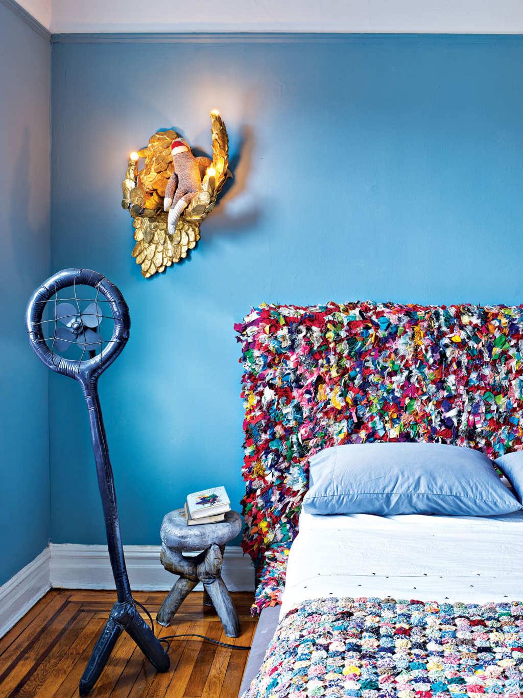 ArtistMisha Kahn states that he needs to beoverwhelmed by how colorful everything is in a design project. design project A colorful design project by Misha Kahn A colorful design project by Misha Kahn I Lobo you 4