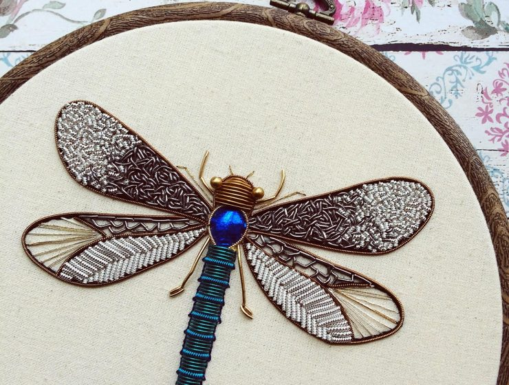 Embroidery artistHumayrah Bint Altafstitches fabulously ornate insects to set a new type of decoration where bugs are inserted inside our houses asdesignart