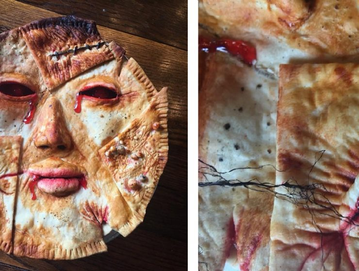 Horror props creator Ashley Newman and US baker Andrew Fuller put a new twist onfood when creating horrifying pot pies. pot pies Horrifying pot pies by Ashley Newman Horrifying pot pies by Ashley Newman i lobo you 3 740x560