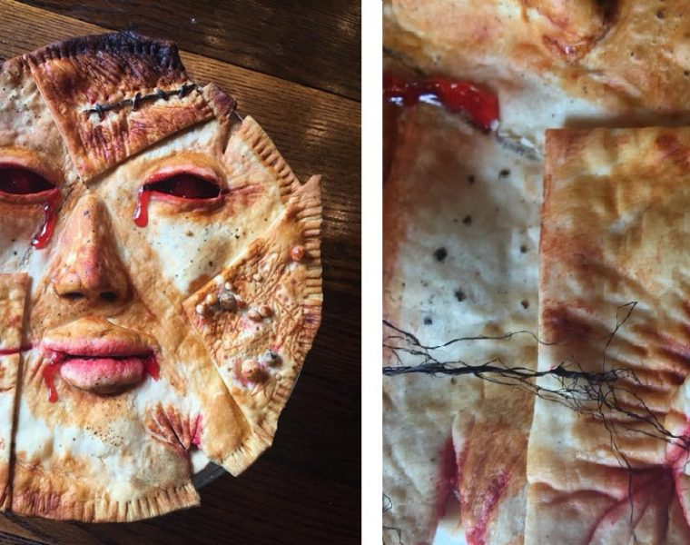 Horror props creator Ashley Newman and US baker Andrew Fuller put a new twist onfood when creating horrifying pot pies.
