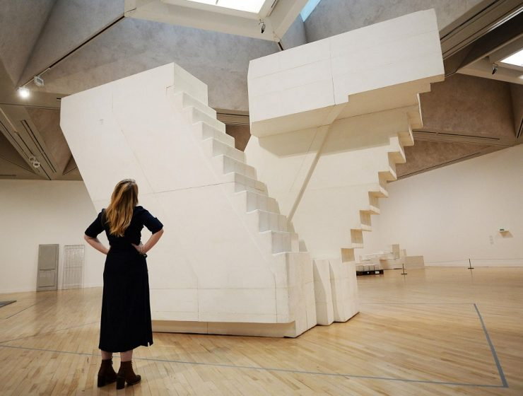 In Rachel Whiteread's sculptures everyday settings, objects, and surfaces are transformed into ghostly replicas. Some are resembling architectural design.