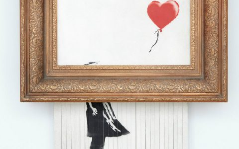 "banksy Banksy's ""Love is in the Bin"" Is Going To Be Kept By Its Buyer Shredded Artwork Is Going To Be Kept By Its Buyer feature image 1 480x300"