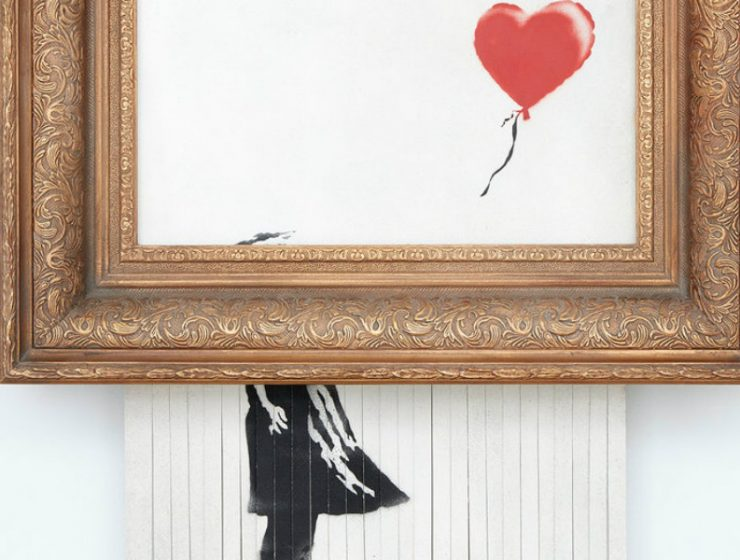 "banksy Banksy's ""Love is in the Bin"" Is Going To Be Kept By Its Buyer Shredded Artwork Is Going To Be Kept By Its Buyer feature image 1 740x560"