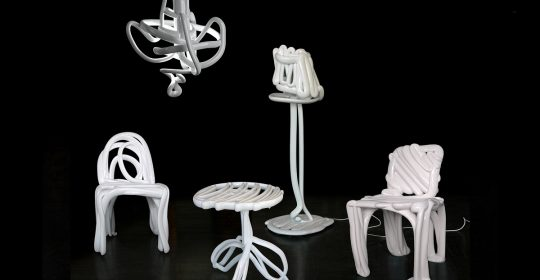 The four members of Front Design, Anna Lindgren, Katja Sävström, Sofia Lagerkvist, and Charlotte von der Lancken, design objects, furniture design.