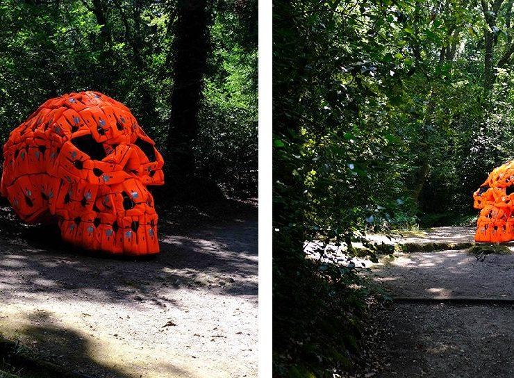 skull Pedro Pires Sculpts Large-Scale Skull Using 140 Life Vests img 8 1537179237 d6ab7bc7c33dac91bb1a29fb8e2b2dd9 740x544
