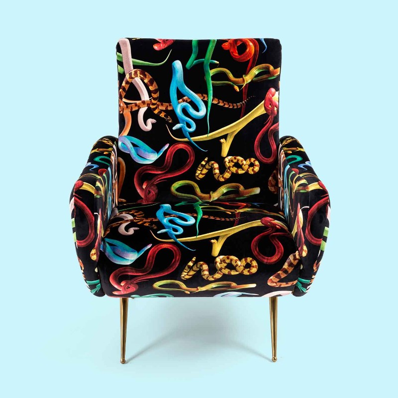 fun furniture Fun Furniture Pieces by Maurizio Cattelan's TOILETPAPER Magazine Armchair snake