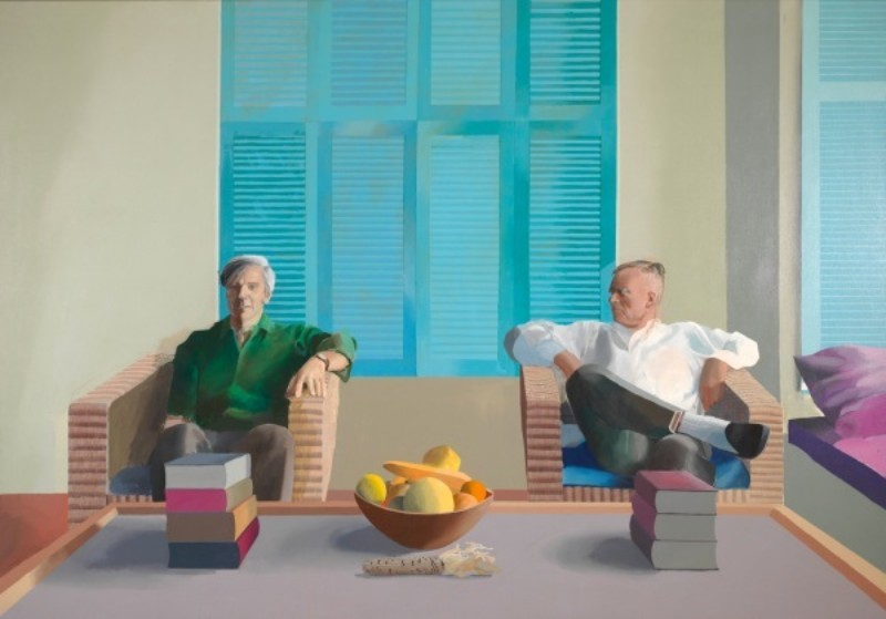 david hockney David Hockney's Painting Sold for a Record-Breaking Value Christopher Isherwood and Don Bachardy