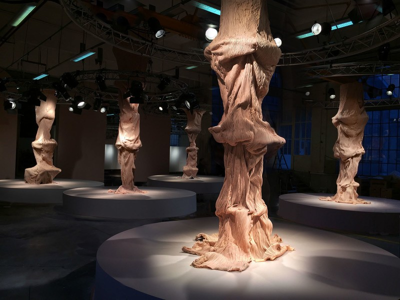 bart hess bart hess Bart Hess' Pink Latex Art Resembles Wrinkled Human Skin Grotto 4
