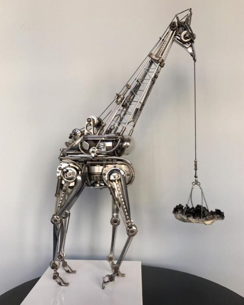 metal sculptures Old Cutlery Gets Transformed into Amazing Metal Sculptures Matt Wilson sculptures 8
